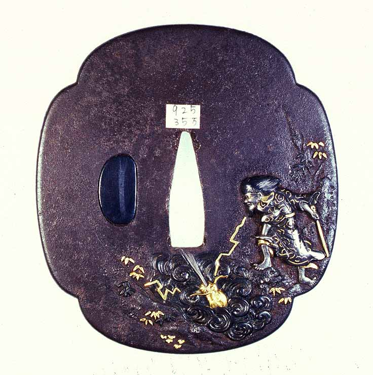 iron and gold Kinko Tsuba
